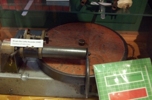 78rpm disc cutting lathe, this was Tristrams first recording device, before he could get a tape recorder